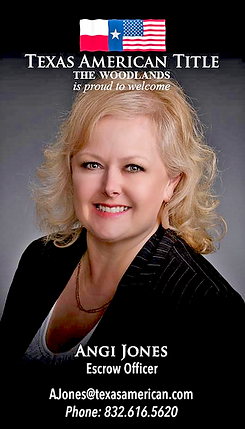 Angi Jones, is an Escrow Officer in The Woodlands, TX with Texas American Title