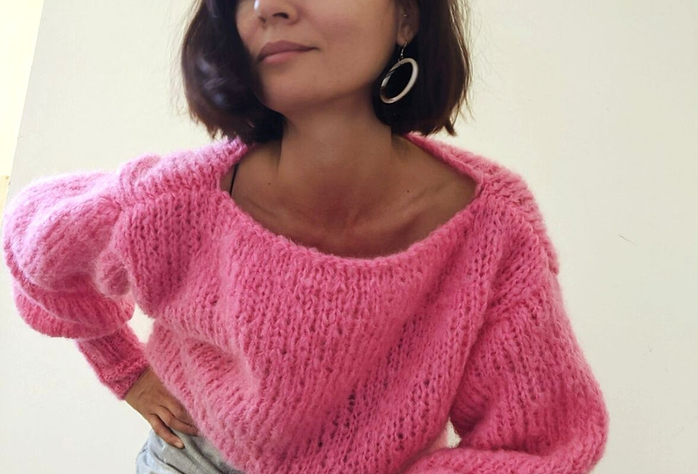 Daydreamer mohair sweater - hot pink