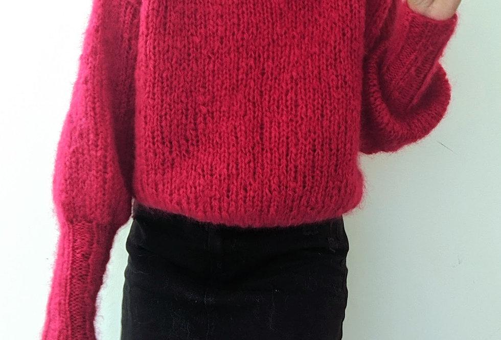 Daydreamer mohair sweater - ruby