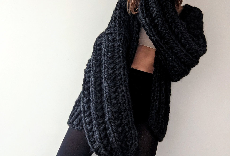 Sophie Cardigan - charcoal
