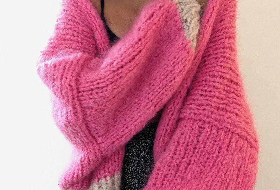 Anaïs mohair cardigan - hot pink