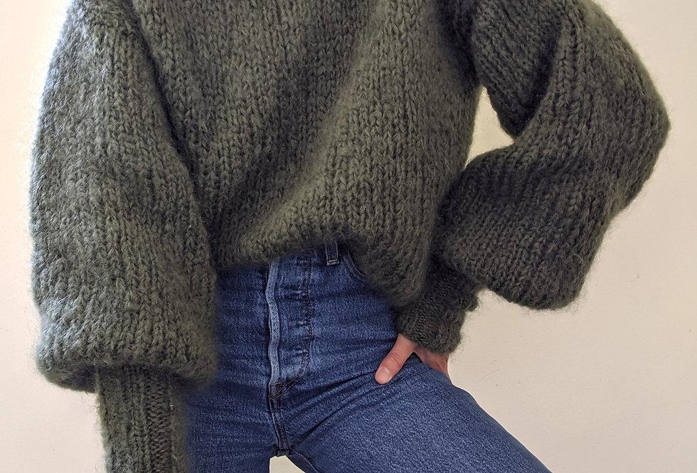 Daydreamer mohair sweater - moss