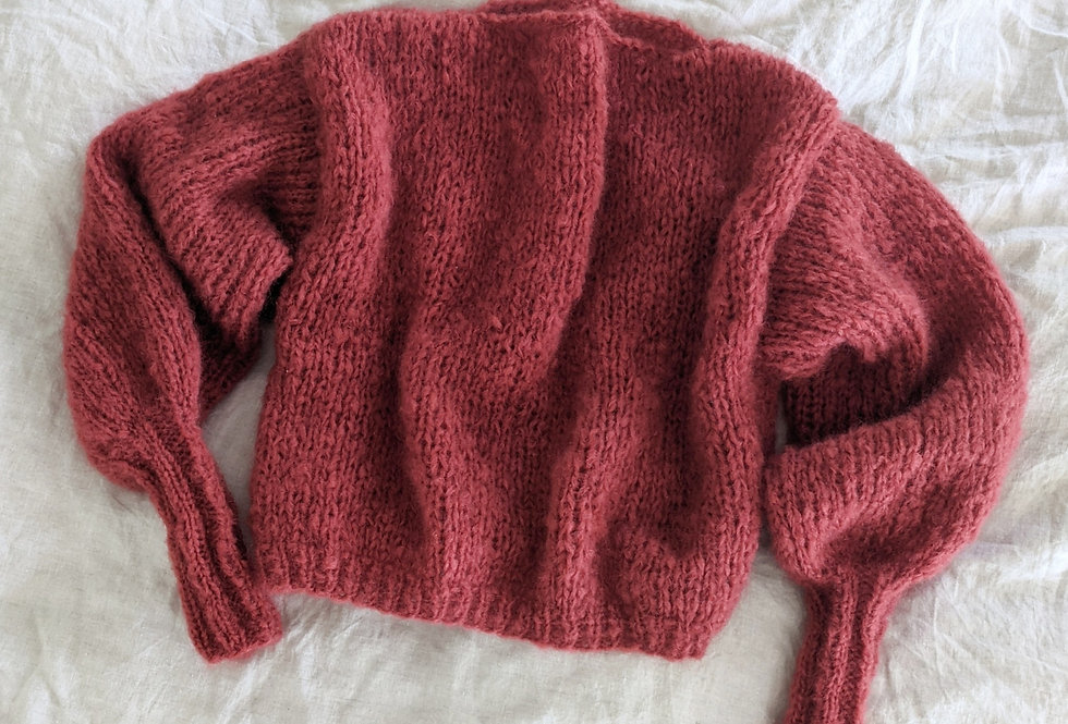 Daydreamer mohair sweater - rust