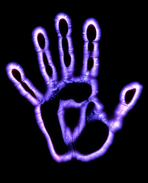 Hand Photograph - Kirlian Photograph Of