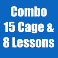 Combo #1: 15 Cage Visits & 8 Lessons