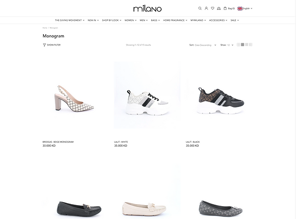Milano Womens Shoes PGP