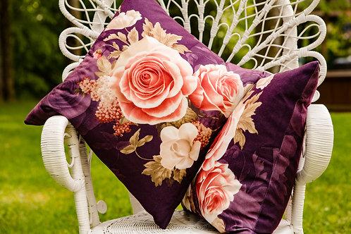 Coussins fleurs