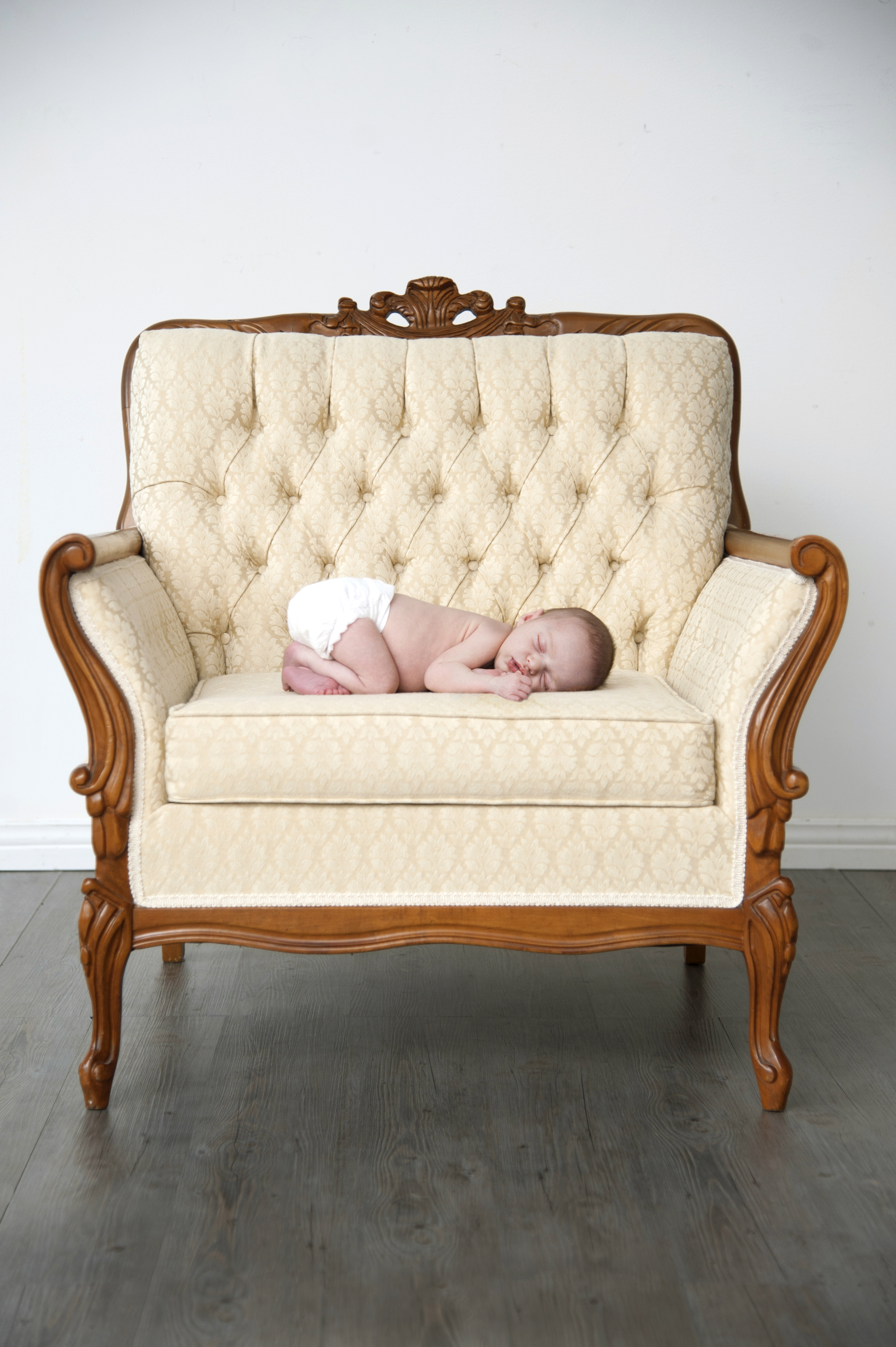 Fauteuil Roma - séance photo bébé