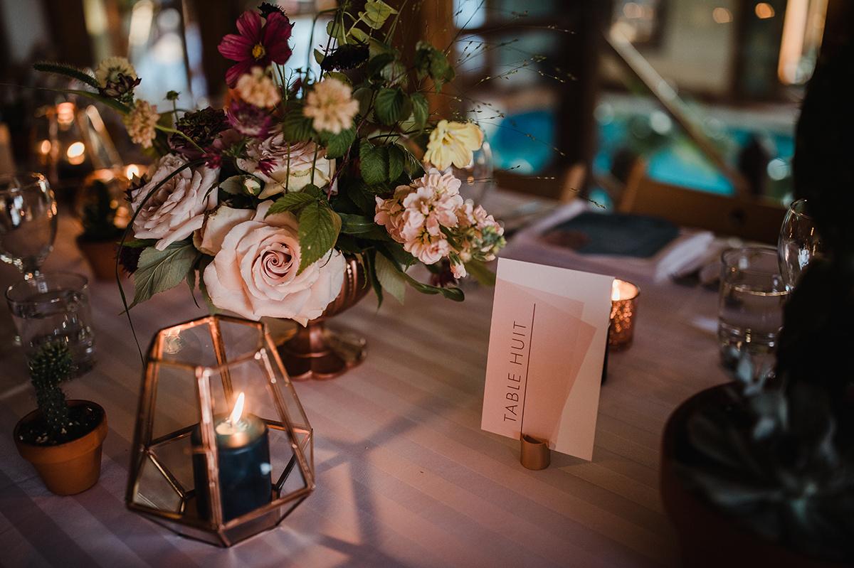 Détails table mariage