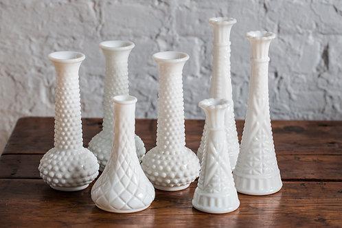 Vases en verre de lait