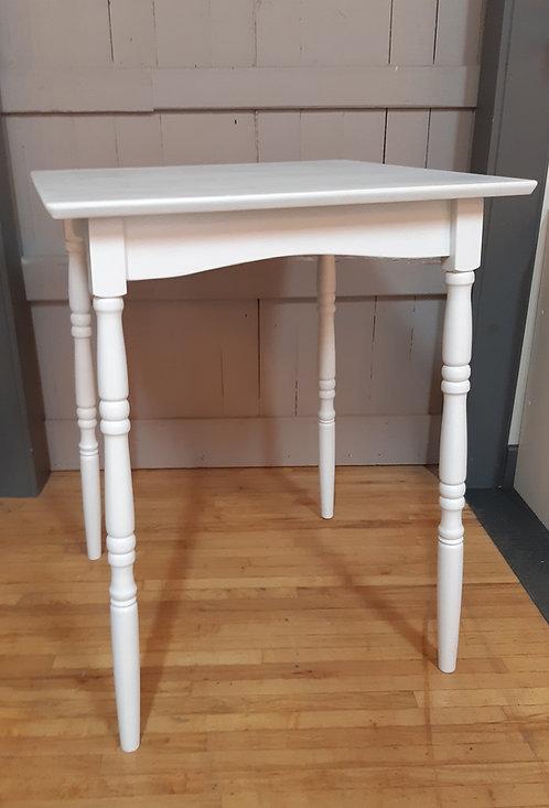 Table haute blanche