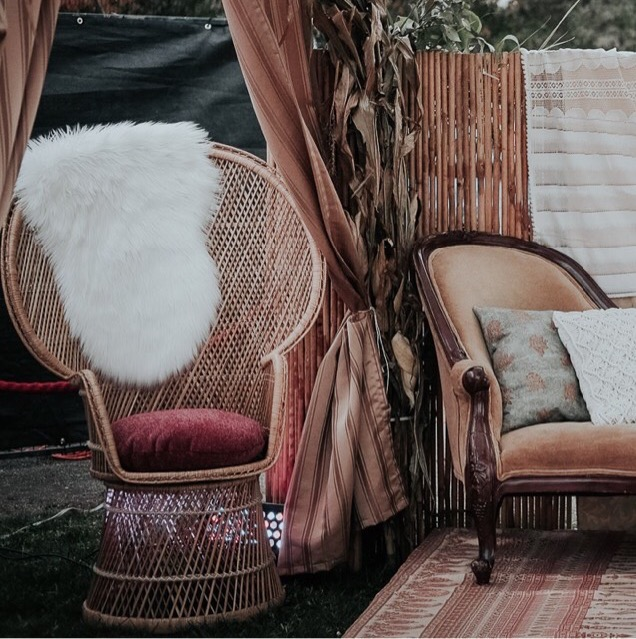 Chaise Peacock - Décor boho
