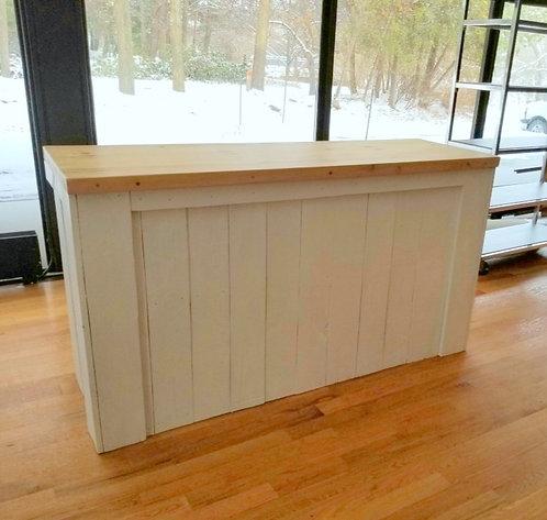 Bar blanc en bois