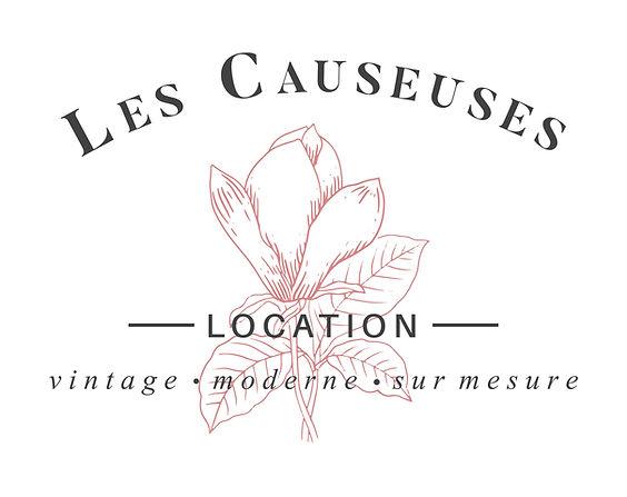 Logo Les Causeuses service de location de meubles et d'articles de décoration vintage moderne et sur mesure
