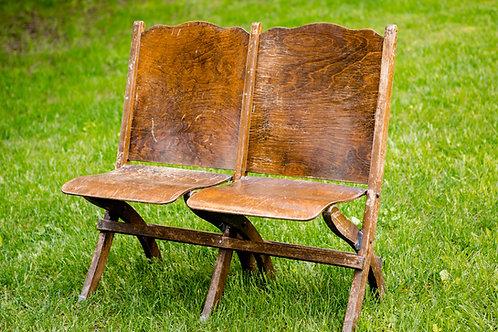 Chaise double pliante en bois