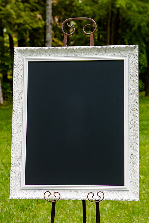 Grand tableau cadre blanc