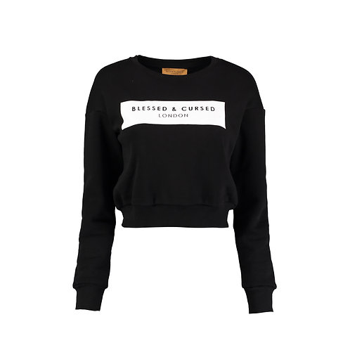 Cropped black Logo Sweat-Shirt