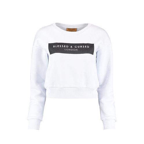 Cropped white Logo Sweat-Shirt