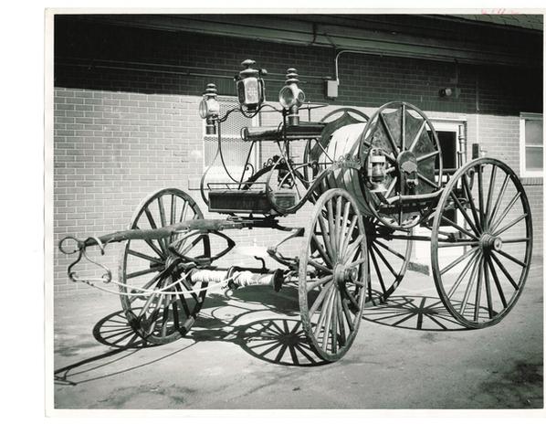 1874 Leverich Hose Wagon Hand-drawn