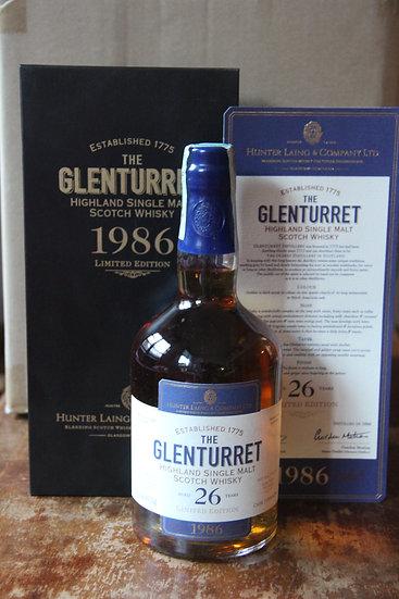 GLENTURRET 1986 26 YO HUNTER LAING 46,8°