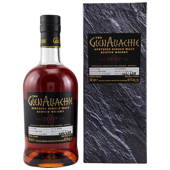 GLENALLACHIE SINGLE CASK 12 YO PORT PIPE #1860 58,7°