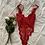 Thumbnail: Vintage Scarlet Lace Bodysuit