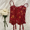 Thumbnail: Vintage 90's Crimson Silk Victoria's Secret Bustier