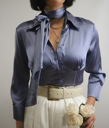 Vintage Bebe Ice Silk Blouse