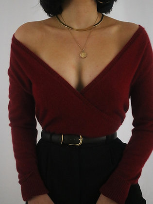 Vintage Cherry Cashmere Sweater