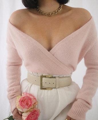 Vintage Blush Angora Sweater