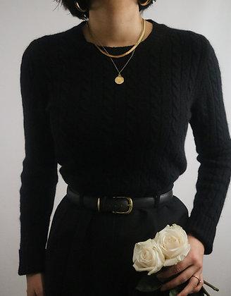 Vintage Noir Angora + Merino Wool Sweater