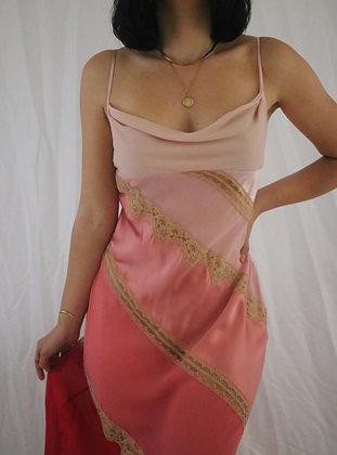 Vintage Victoria's Secret Petal Silk Slip Dress