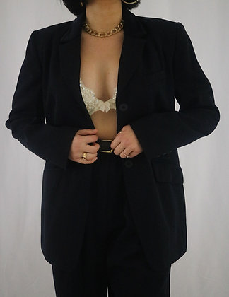 Vintage Midnight Wool Suit