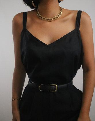 Vintage Noir Silk Camisole