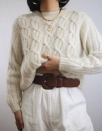 Vintage Mahogany Chunky Leather Belt