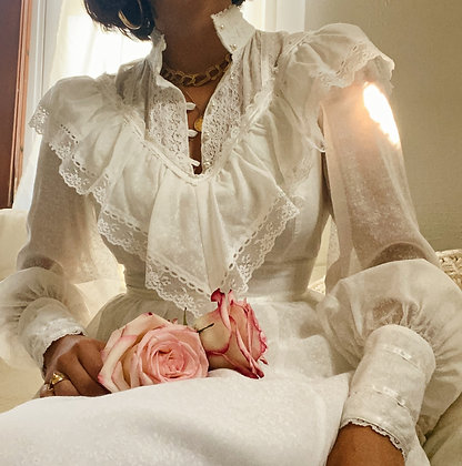 Vintage Milk 1970's Gunne Sax Dress