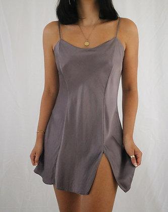 Vintage Lavender Silk Slip Dress (M)