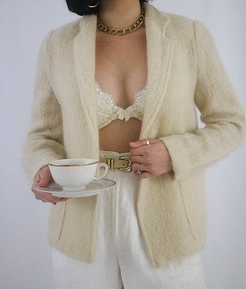 Vintage 1980's Ivory Mohair Sweater