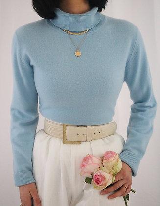Vintage Sky Cashmere Turtleneck Sweater