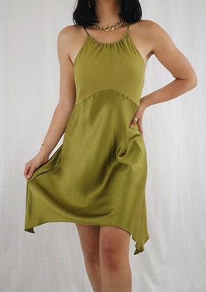 Vintage Olive Victoria's Secret Silk Slip Dress