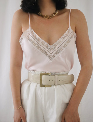 Vintage 1980's Rose Christian Dior Satin Camisole