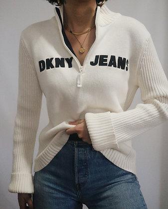 Vintage DKNY Cotton Quarter Zip Sweater