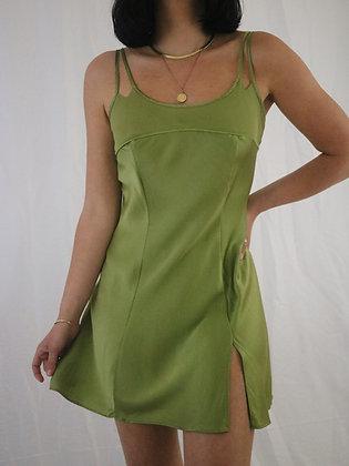 Vintage Olive 1990's Victoria's Secret Silk Slip Dress