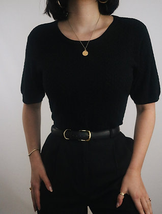 Vintage Noir Silk Top