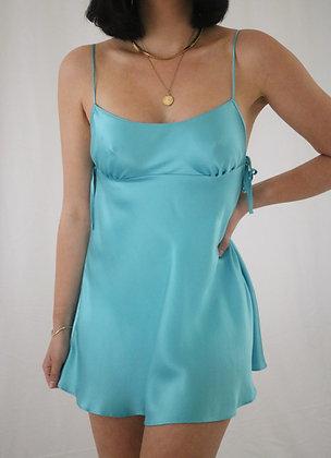 Vintage Victoria's Secret Aqua Silk Slip Dress