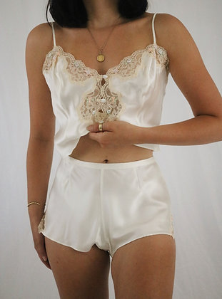 Vintage Victoria's Secret Sugar Silk Two Piece Set (M)