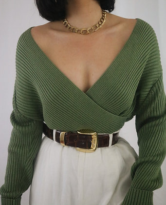 Vintage 1980's Basil Cotton Sweater