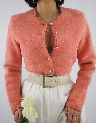 Vintage 1980's Geiger Coral Cardigan