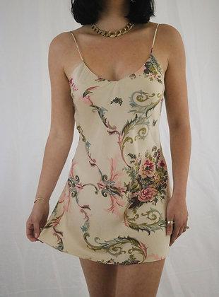 Vintage Honey 1980's Victoria's Secret Floral Silk Slip Dress