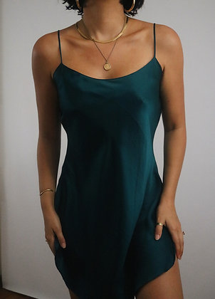 Vintage Ocean Victoria's Secret Silk Slip Dress